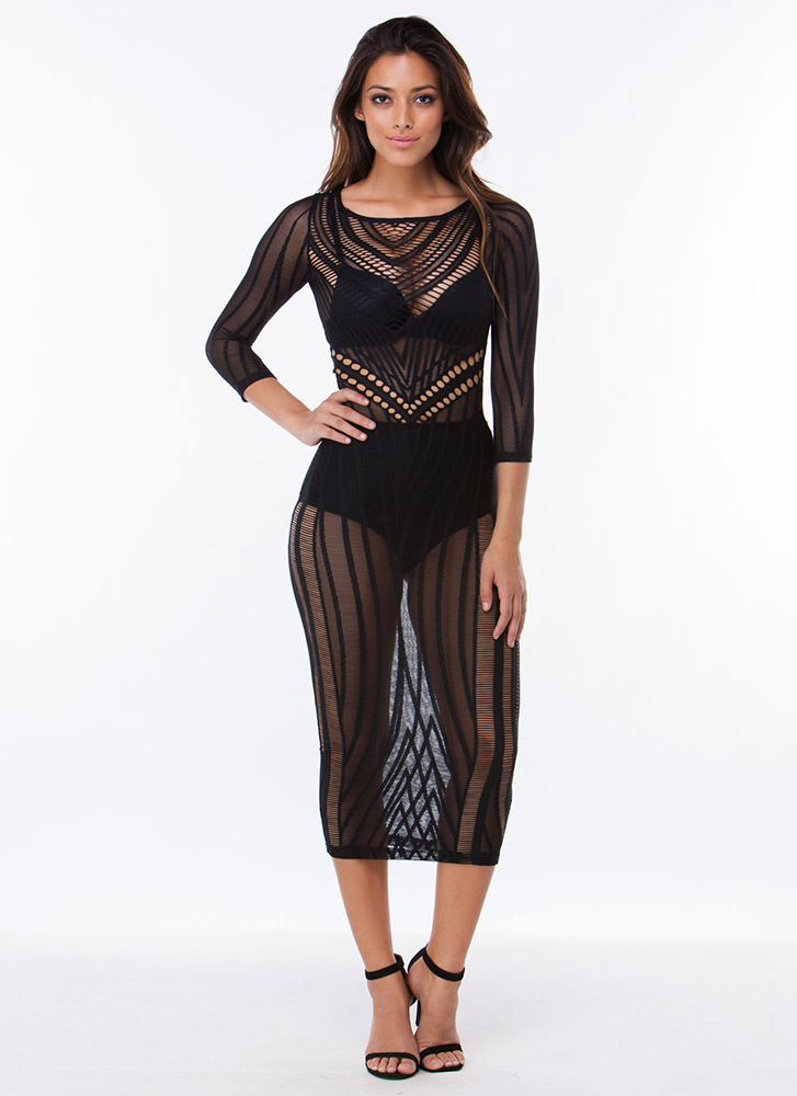 Mesh With me Cut-out Midi