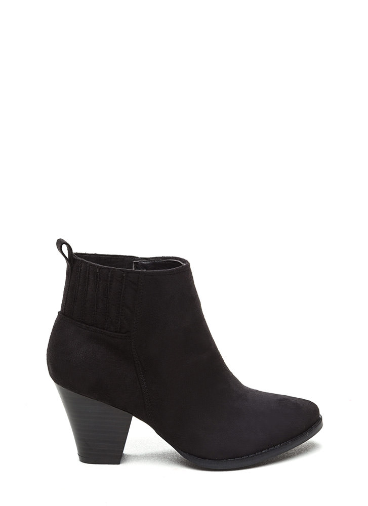 Chic Addition Faux Suede Booties