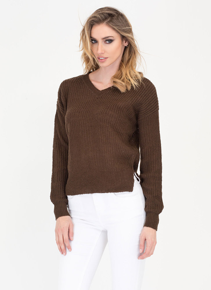 V Great Knit Sweater