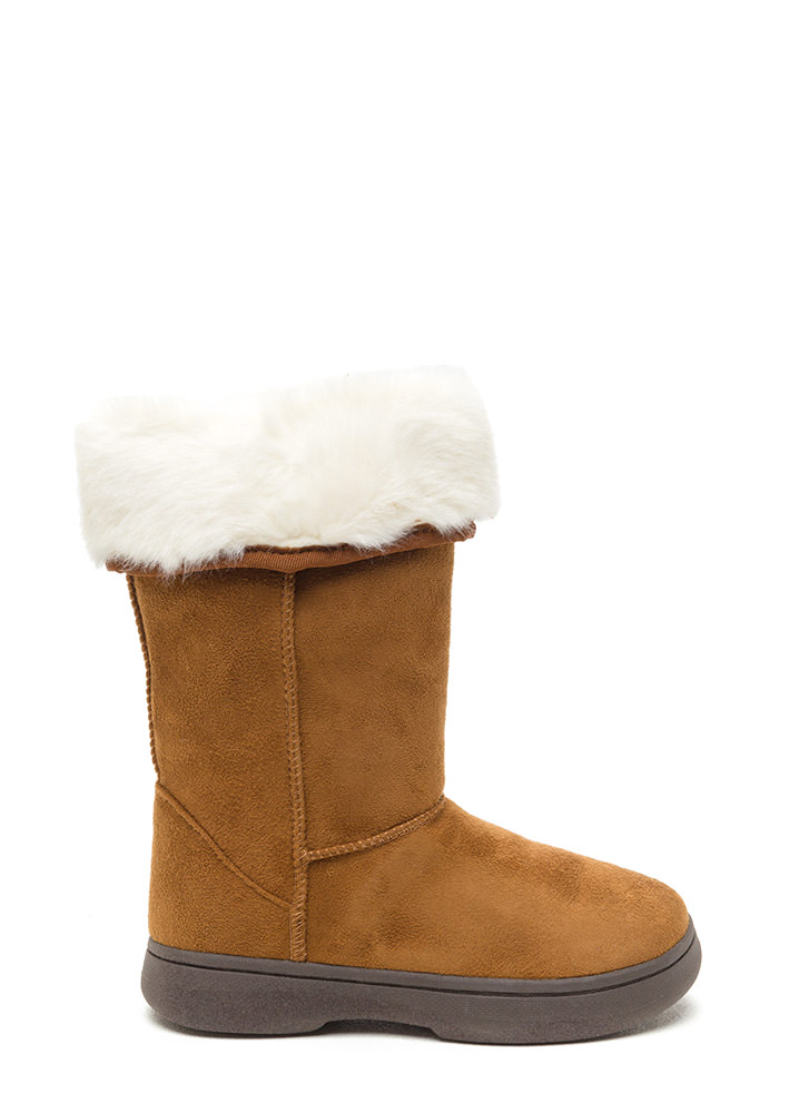 Fur Your Consideration Faux Suede Boots