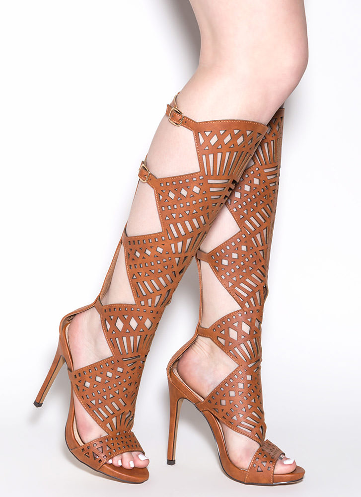 In The Works Gladiator Heels