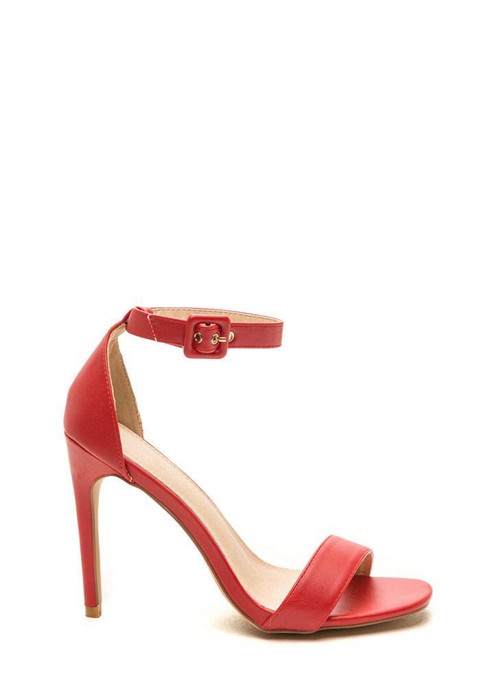 Social Climber Faux Leather Heels