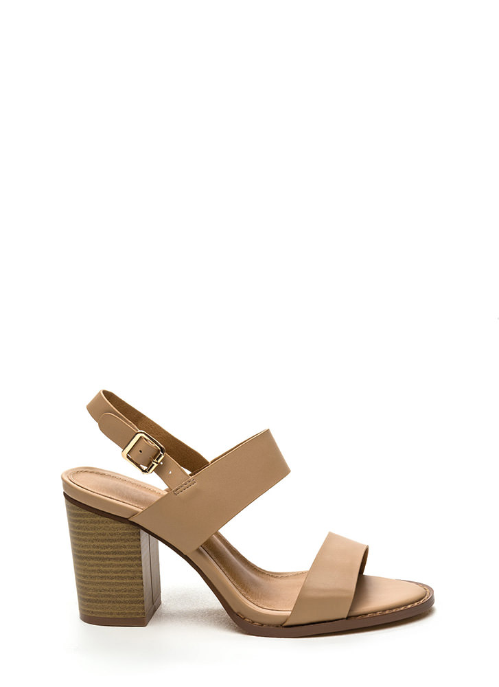 City Slicker Chunky Faux Leather Heels