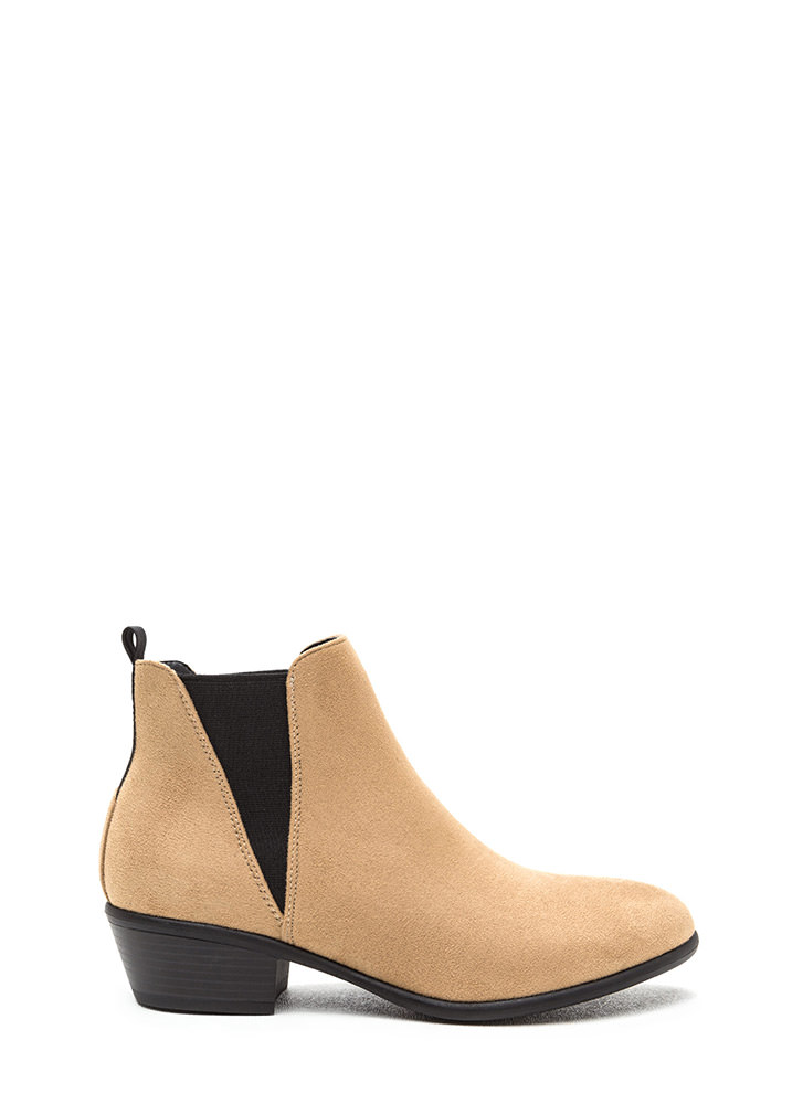 Street Style Staple Faux Suede Booties