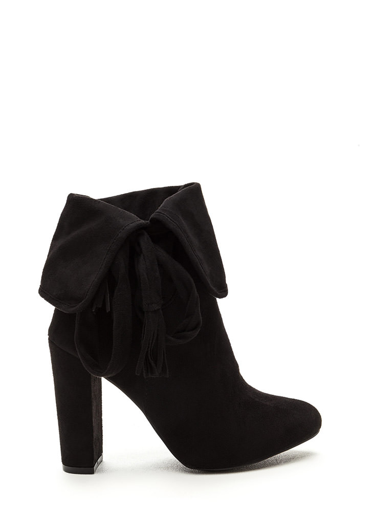 Bold Personality Faux Suede Booties