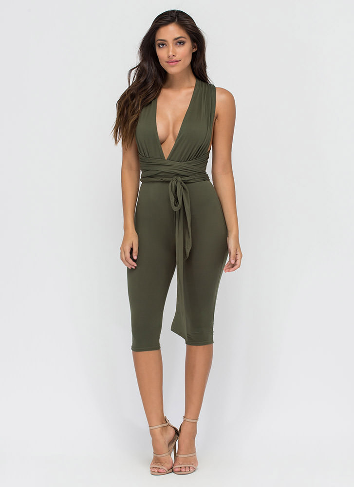 Up To You Cropped Convertible Jumpsuit