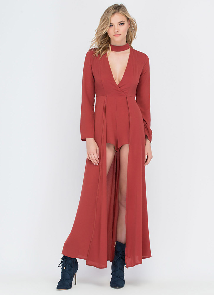Above And Beyond Plunging Maxi