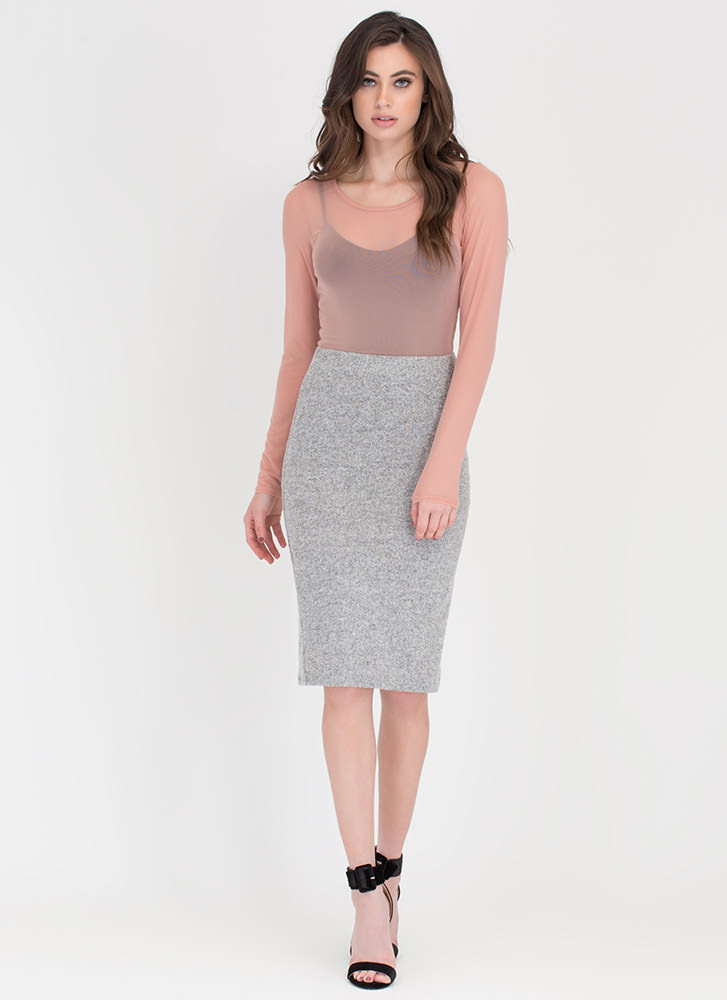 Such A Softie Knit Pencil Skirt