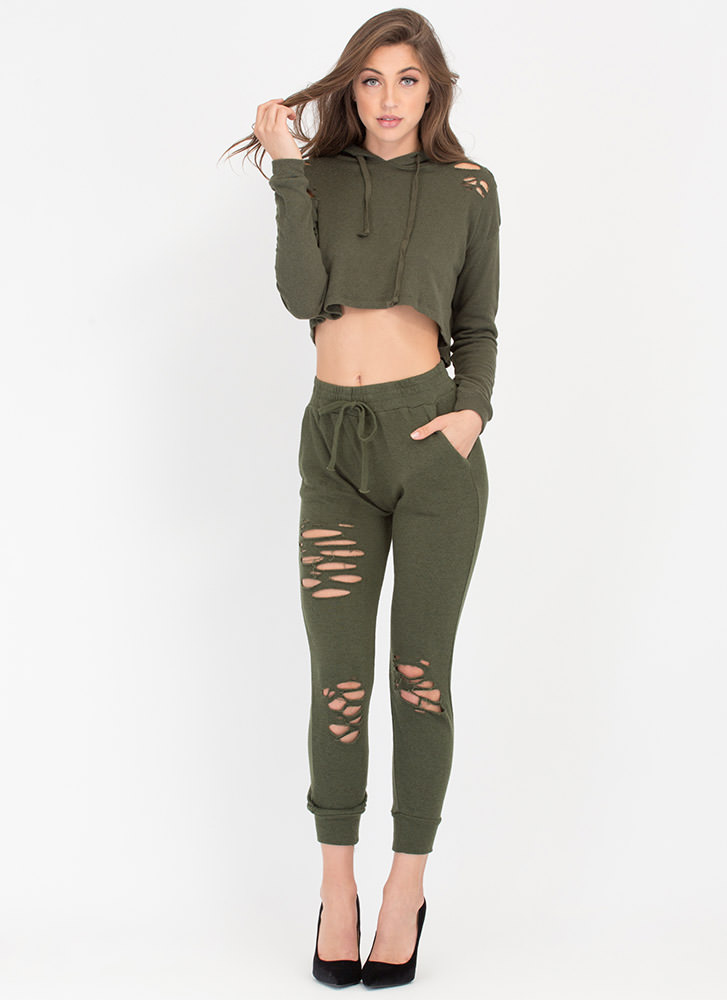Shred-y Or Not Jogger Pants
