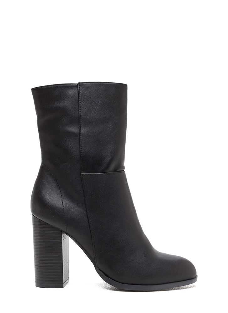 Tall Or Nothing Faux Leather Booties