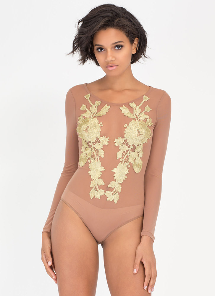 Growth Spurt Sheer Mesh Bodysuit