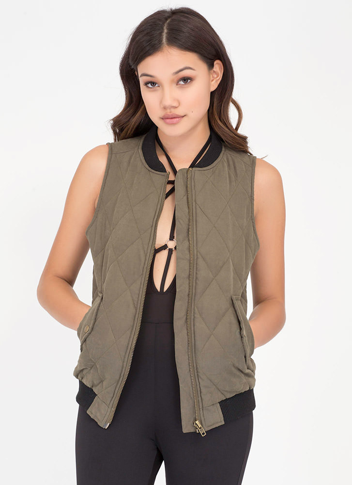 Ride Along Quilted Zip-Up Vest