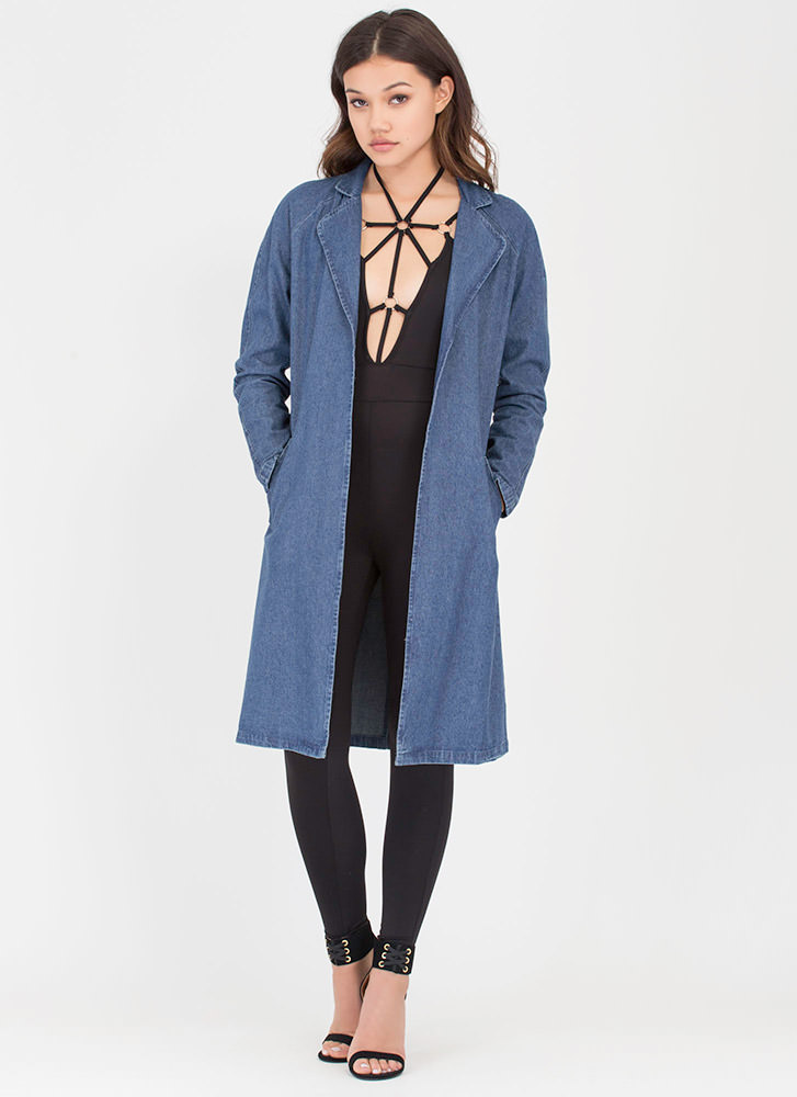 Jean Come True Flyaway Denim Duster