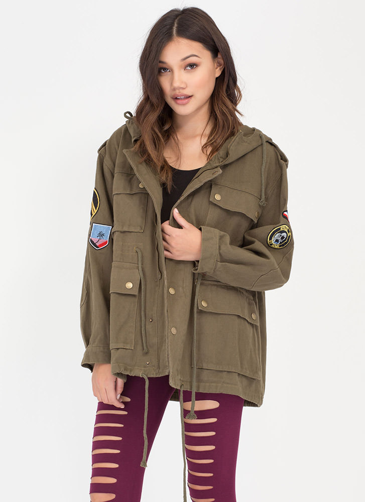 Space 'N Time Oversized Utility Jacket