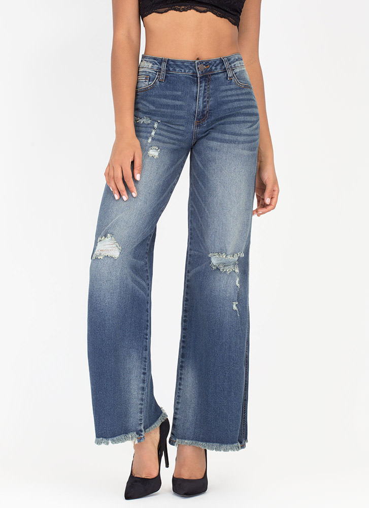Black High Waisted Distressed Jeans - Jon Jean