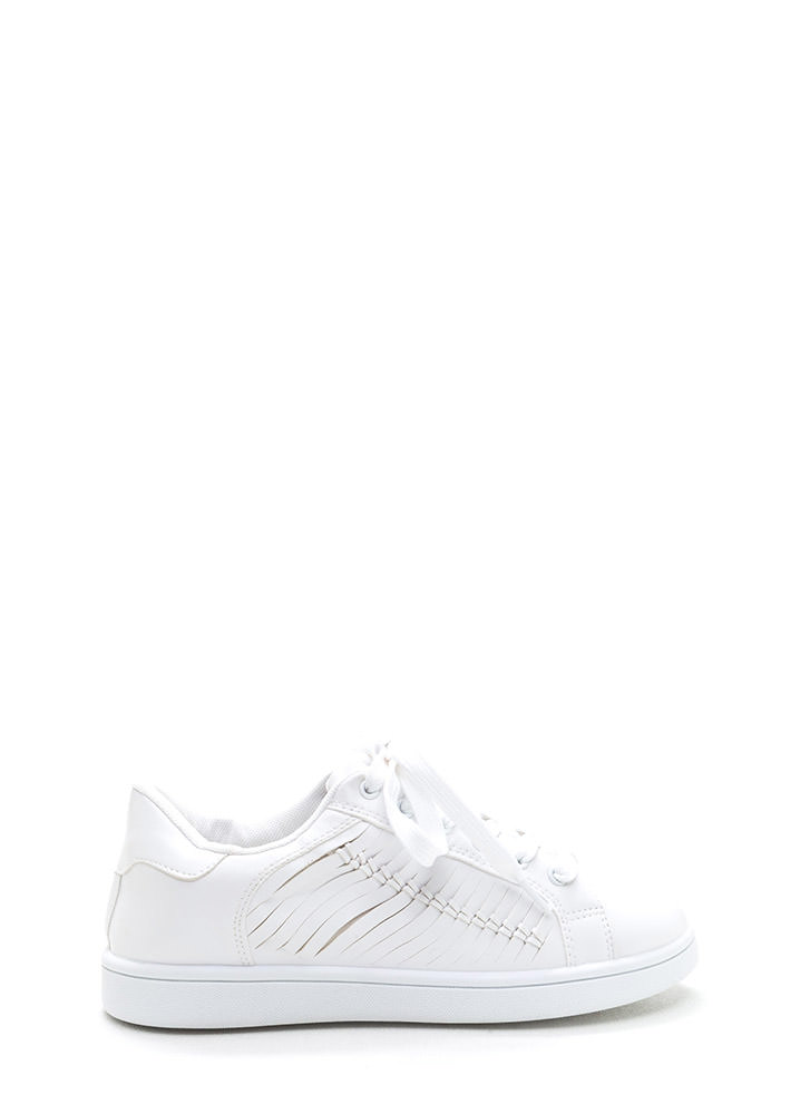 Free 'N Easy Slit Faux Leather Sneakers