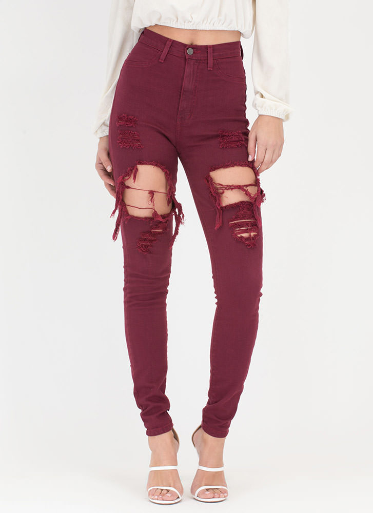 In A Stride Distressed Skinny Jeans