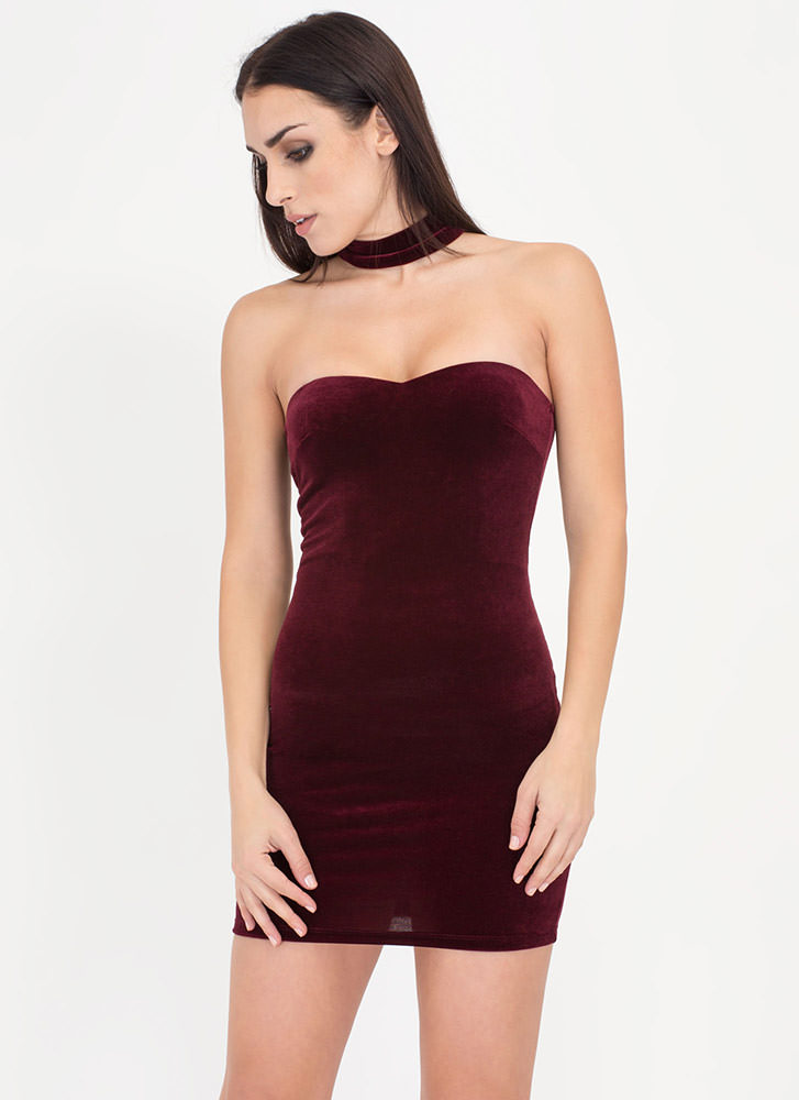 Chokers Wild Velvet Sweetheart Dress
