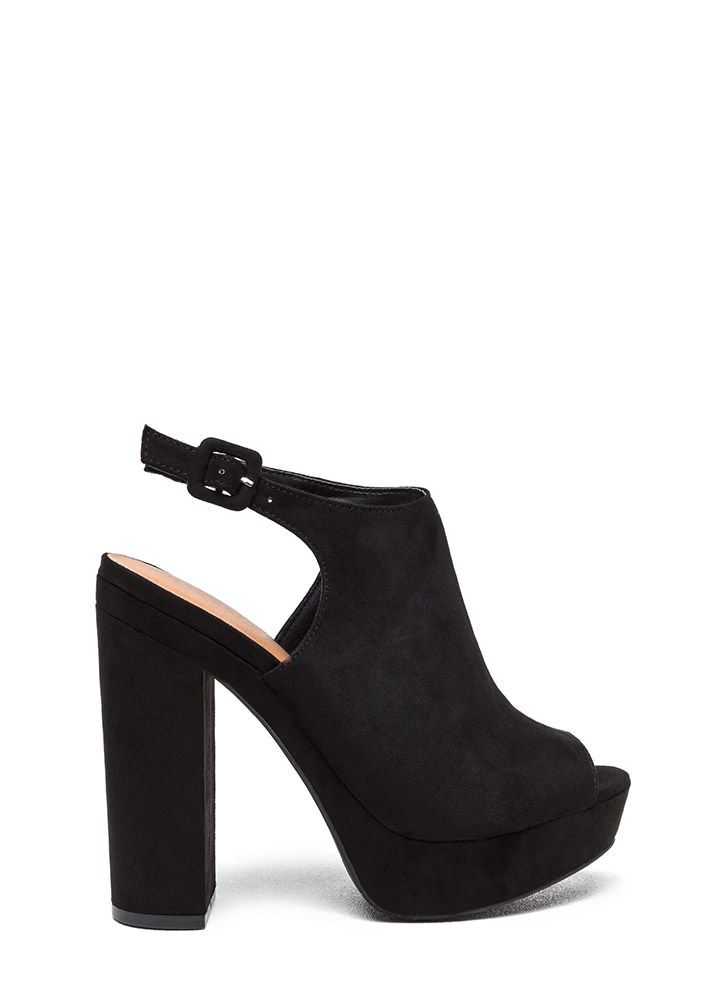 Easy A Chunky Peep-Toe Platforms