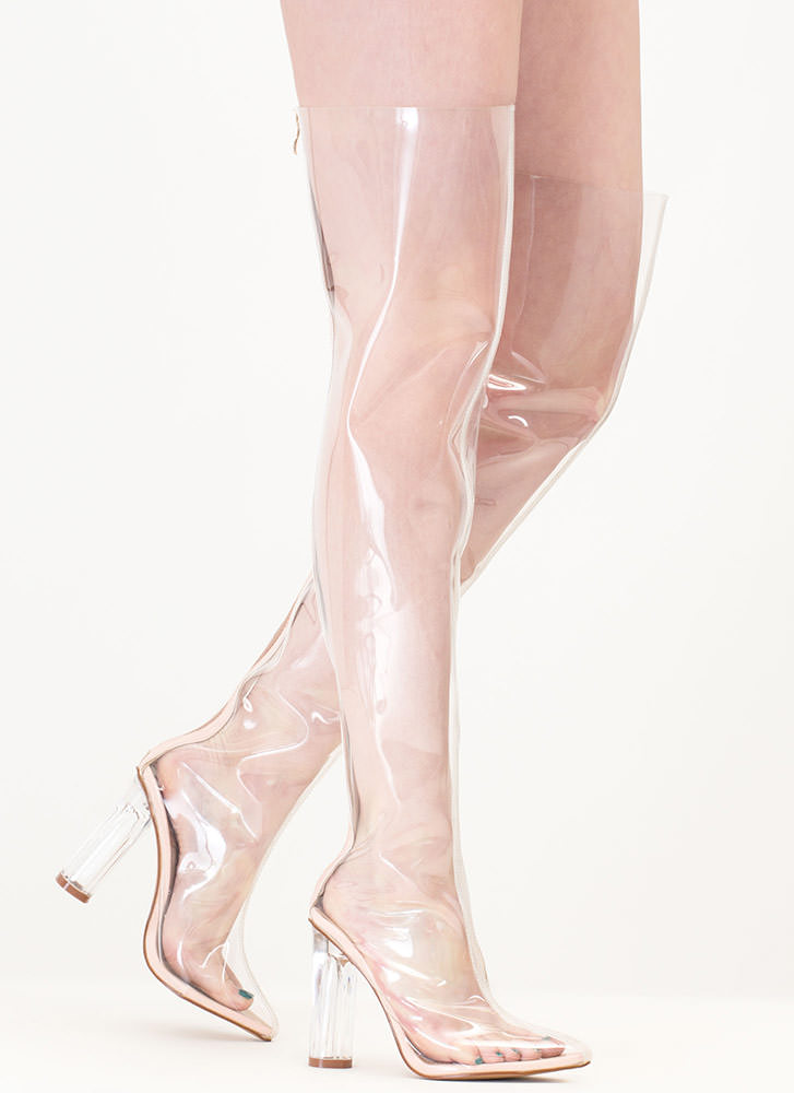 Clear The Way Thigh-High Pointy Boots