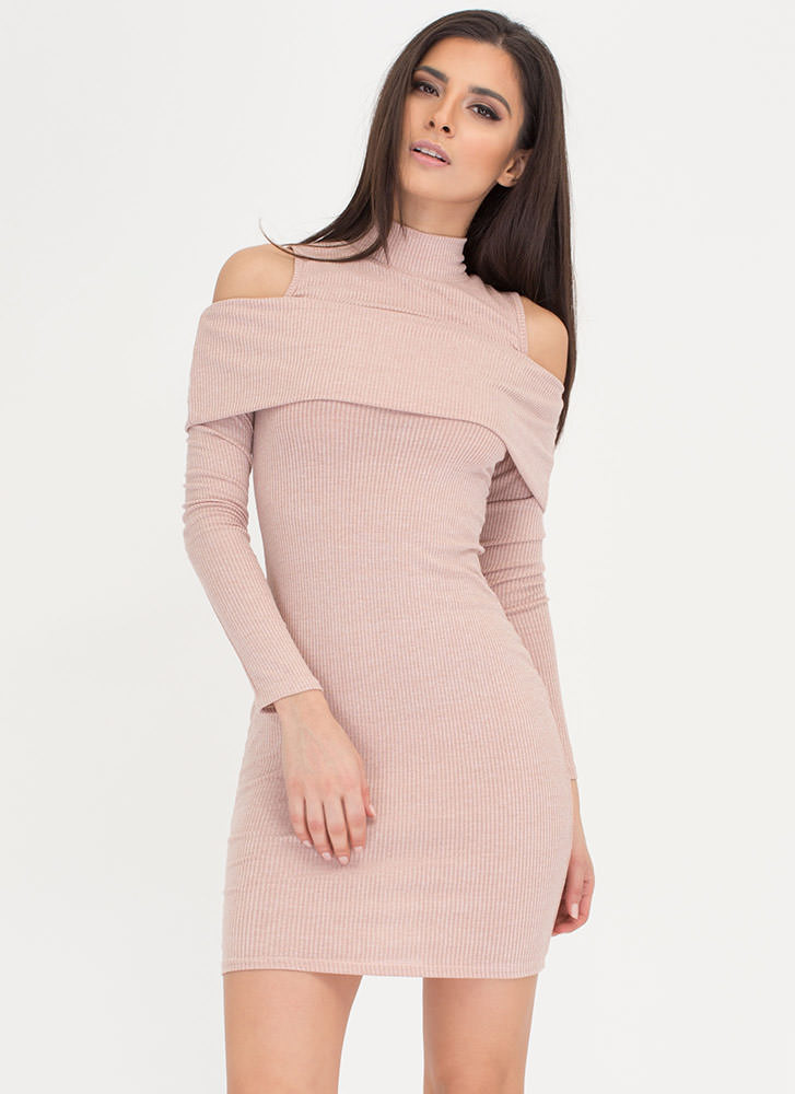 Day Trip Ruffled Cold Shoulder Dress
