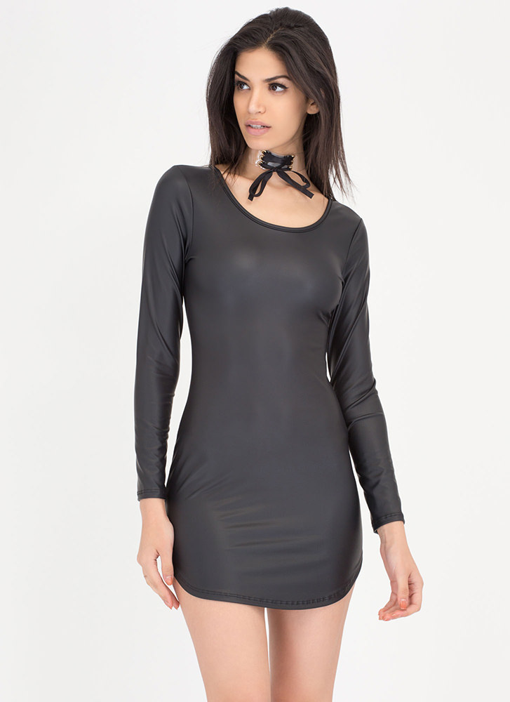 Smooth Moves Vegan Leather Dress