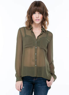 Sheer Thing Chiffon Blouse