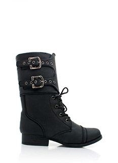 Double Buckle Combat Boots