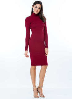 Turtleneck Zipper Dress