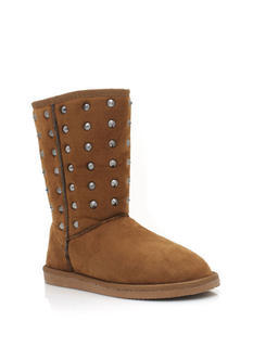 Studded Suede Boots