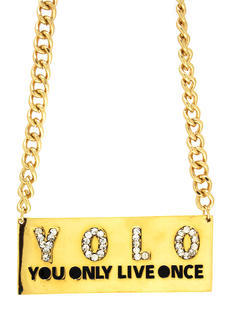 The Motto Baby Yolo Necklace