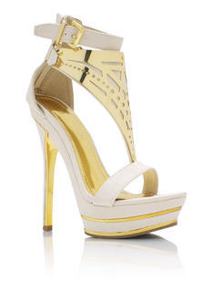 Plated Strappy Heels