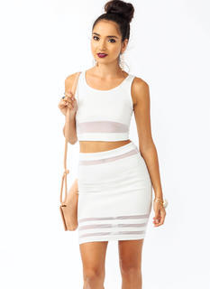 All Meshed Up Cropped Top