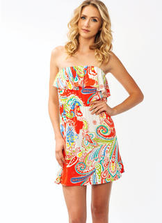 Ruffled Up Paisley Dress