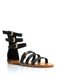 Buckle Down Strappy Sandals