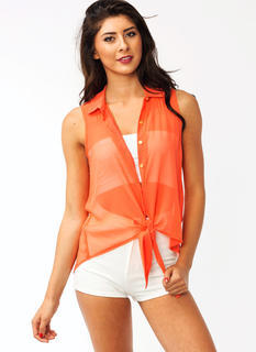 All Tied Up Pleated Blouse