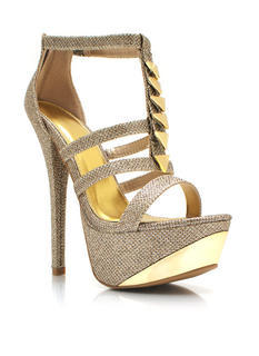 Going For Glitter Strappy Heels