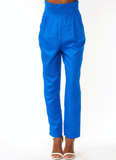 Pleated High Waisted Trousers