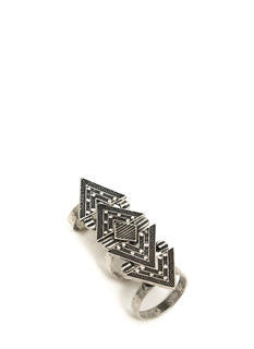 Chevron And On Shield Ring