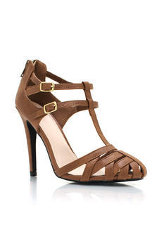 Strappy Double T Strap Heels