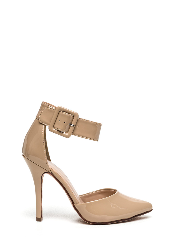 Buckle Up Pointy Toe Pumps