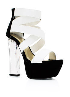 Clearly Contrast Lucite Heels