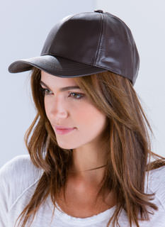 Leather Lady Baseball Cap