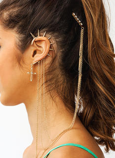 Have Faith Spiked Comb Earring