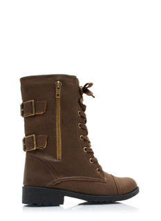 Buckle Back Combat Boots