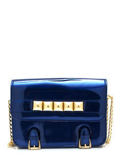 Studded And Buckled Clutch