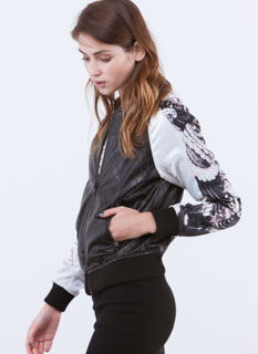 Early Bird Quilted Bomber Jacket