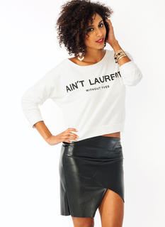 Without Yves Cropped Sweatshirt
