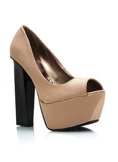 Funky Chunky Textured Pumps