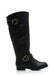 Pyramid Studded Riding Boots